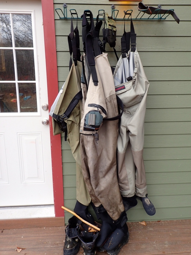 Hanging waders